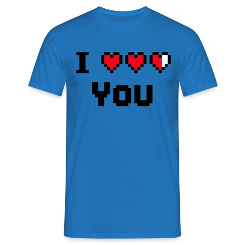 I pixelhearts you - Mannen T-shirt
