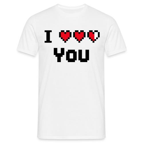 I pixelhearts you - Mannen T-shirt