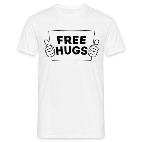 FREE HUGS! Daumen Hoch / Like Schild 1C - Männer T-Shirt