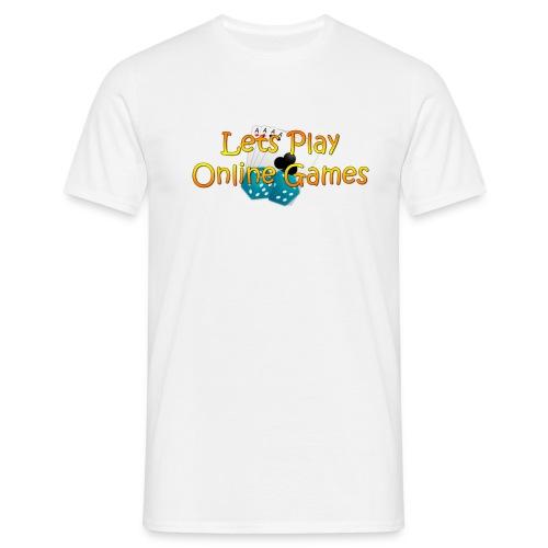 Lets Play OnlineGameslogo - T-shirt herr