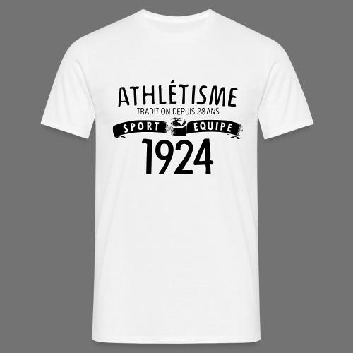 Urheilu Equipe 1924 (musta) - Miesten t-paita