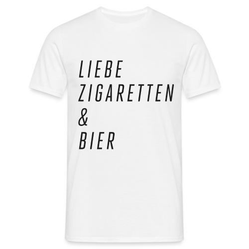 Liebe, Zigaretten & Bier - Männer T-Shirt