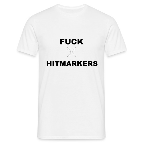 Fuck Hitmarkers Design - Men's T-Shirt