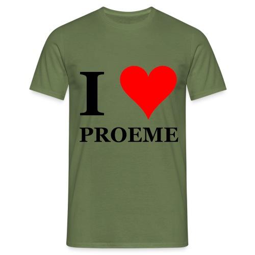 I love proeme I love pussy - Mannen T-shirt