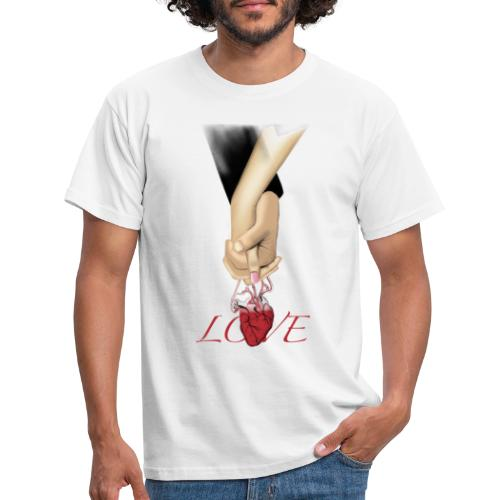 Love hand - Männer T-Shirt