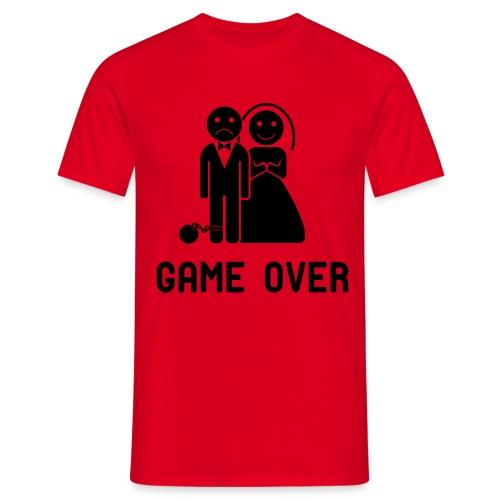 Vrijgezellenfeest game over! - Mannen T-shirt