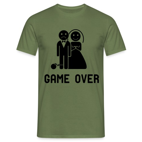 Vrijgezellenfeest game over! - Mannen T-shirt