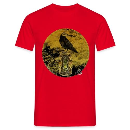 'Memento Mori', round w. logo by BlackenedMoonArts - Herre-T-shirt
