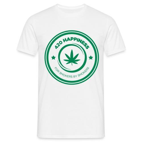 420_Happiness_logo - Herre-T-shirt