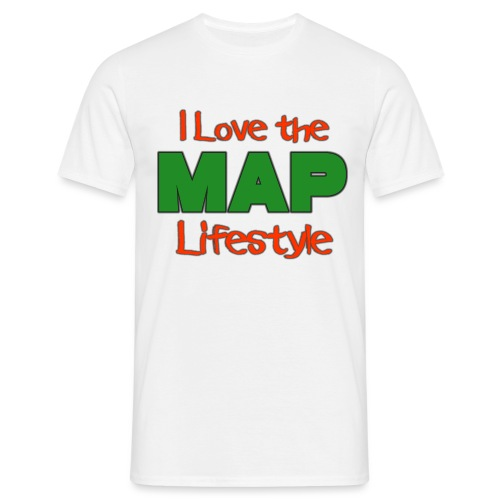 I Love the MAP Lifestyle - Männer T-Shirt