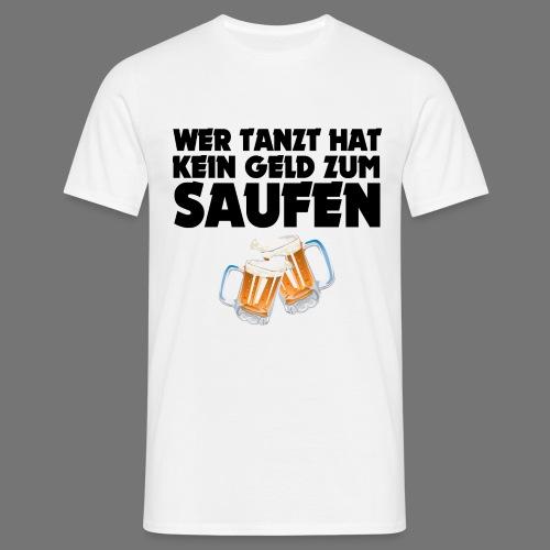 SAUFEN SCHWARZ - Männer T-Shirt