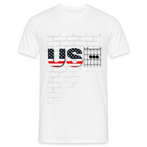 USA American Flag in Chords - Men's T-Shirt