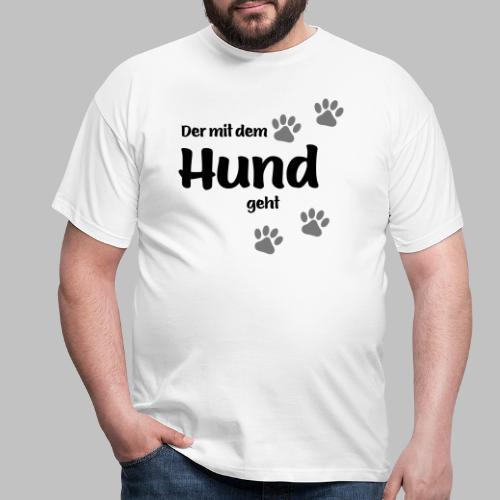 Der mit dem Hund geht - Colored Paw - Männer T-Shirt