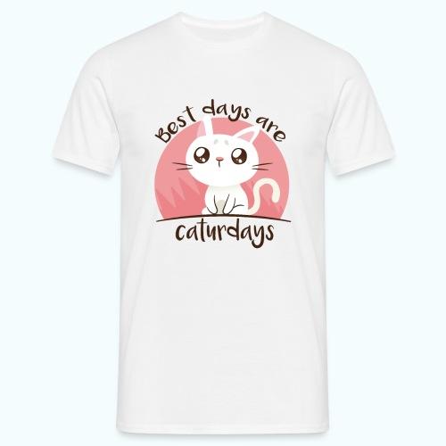Saturdays - NO - Caturdays - Men's T-Shirt