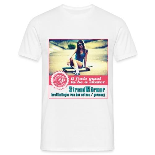 StrandWärmer_Skateboards_RetroSkategirl - Männer T-Shirt