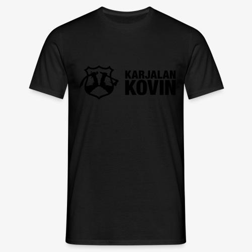karjalan kovin logo vaaka musta - Miesten t-paita