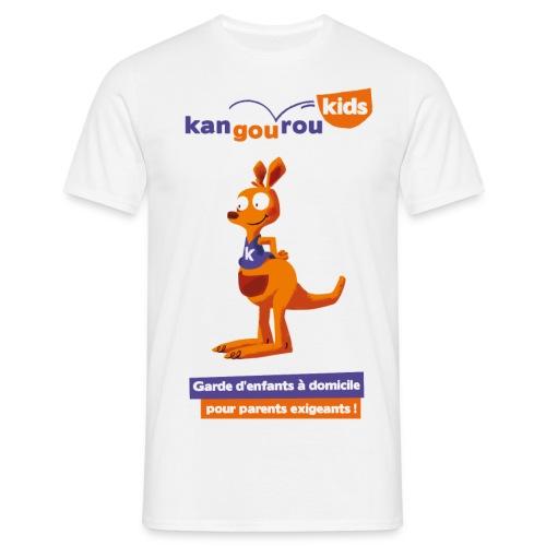 logo kangourou baseline png - T-shirt Homme