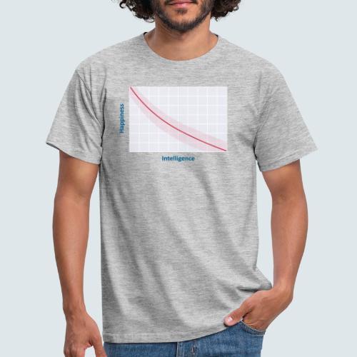 intelligence vs happiness - Männer T-Shirt