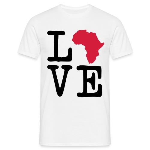 I Love Africa, I Heart Africa - Men's T-Shirt