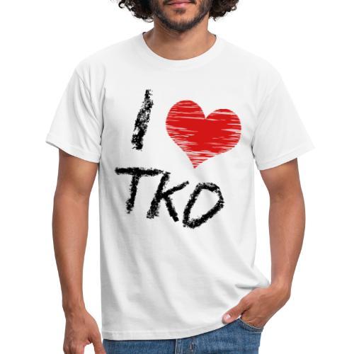 I love tkd letras negras - Camiseta hombre