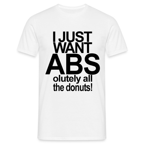 ABSolutely All the Donuts - Männer T-Shirt
