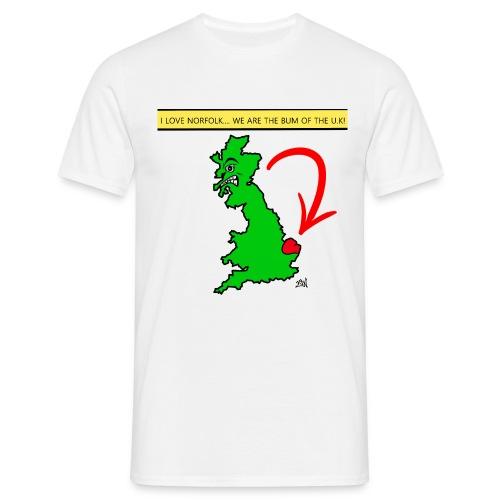 I Love Norfolk - Men's T-Shirt