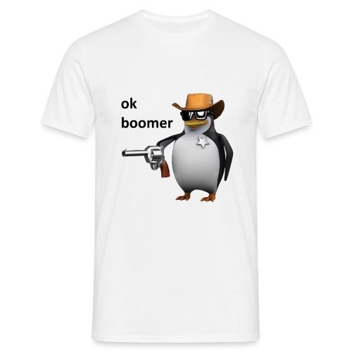 Ok Boomer Penguin Sheriff - Men's T-Shirt