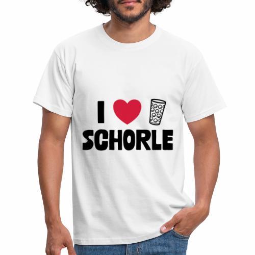 I love Schorle & Dubbeglas - Männer T-Shirt