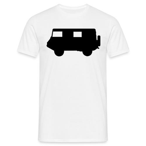 pikto seite1 sw o linien - Männer T-Shirt