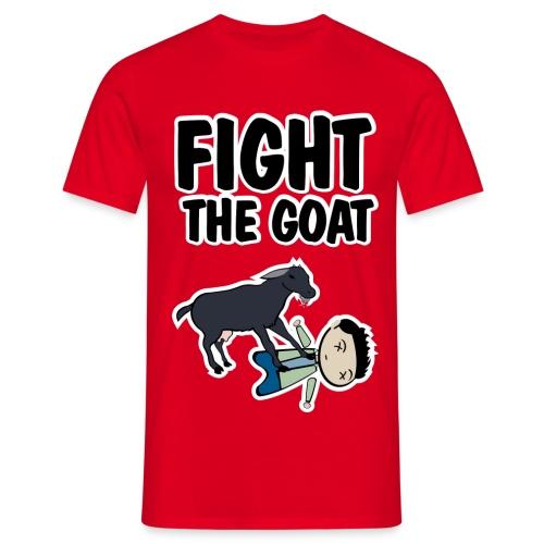 how i met fight the goat - Camiseta hombre
