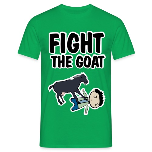 how i met fight the goat - Camiseta hombre