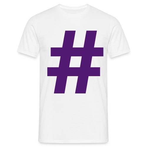 #Hashtag - Mannen T-shirt