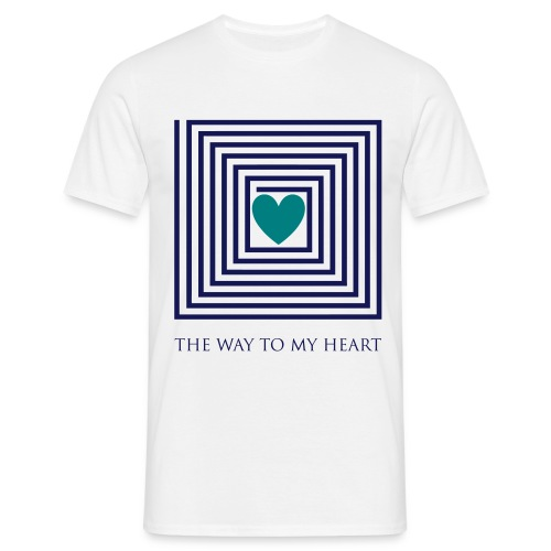 The Way To My Heart - Männer T-Shirt
