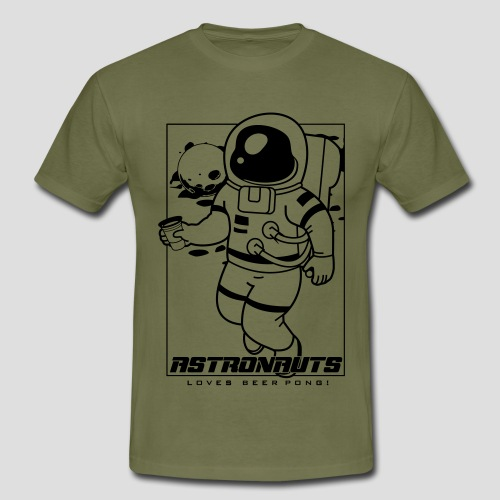 Astronauts loves Beerpong - Männer T-Shirt