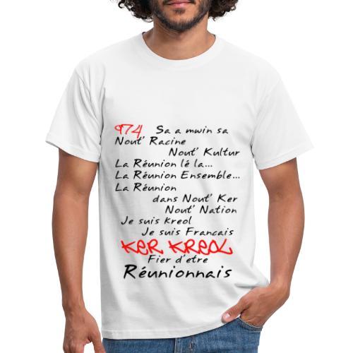 Kosement kreol - 974 La Réunion - T-shirt Homme