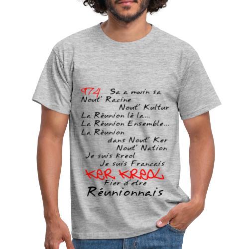 Kosement kreol - 974 Ker Kreol - Réunionnais - T-shirt Homme