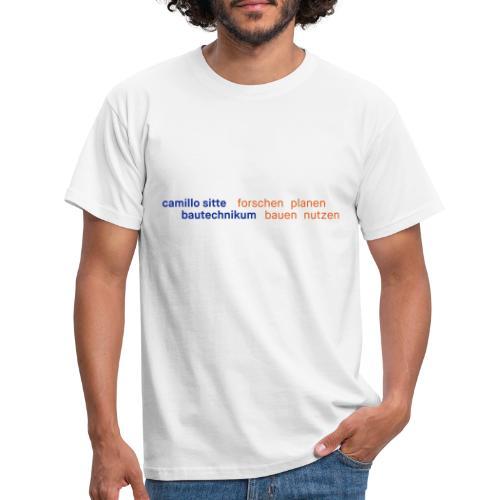 forschen planen bauen nutzen - Männer T-Shirt