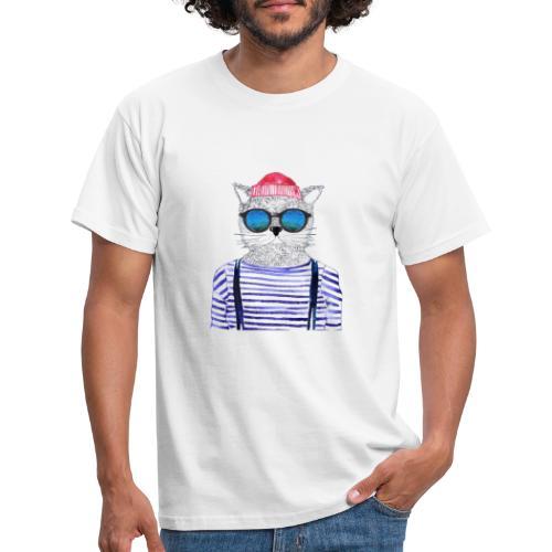 Berlin Hipster Cat - Männer T-Shirt