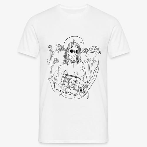 plague mask - lineart - Männer T-Shirt