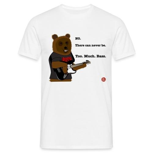 Bear Playing Bass - T-shirt herr