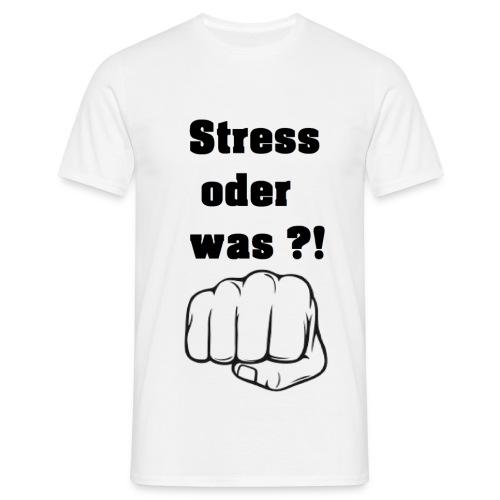 Stress oder was weißes Shirt gif - Männer T-Shirt