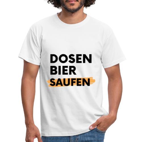 Dosenbier Saufen - Männer T-Shirt