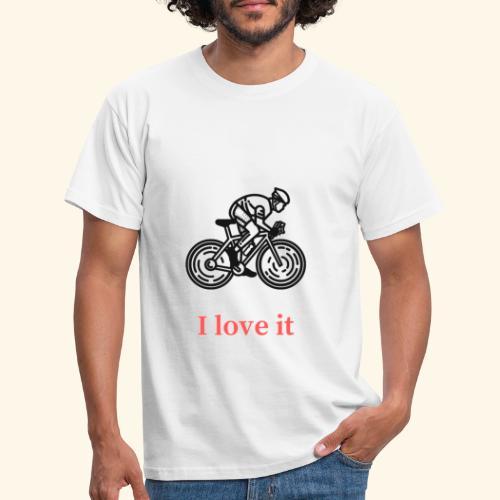 I love my bicycle - Koszulka męska