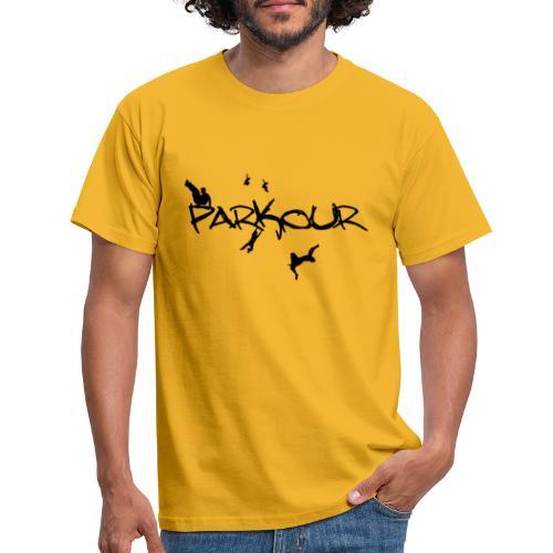 Parkour Sort - Herre-T-shirt