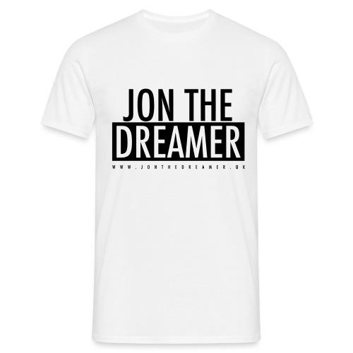 JON THE DREAMER LOGO - WHITE - Men's T-Shirt