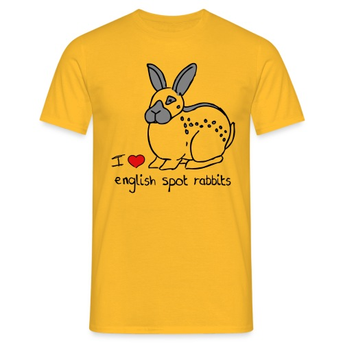 I Love English Spot Rabbits - Men's T-Shirt