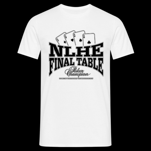 NLHE Final Table (sort) - Herre-T-shirt