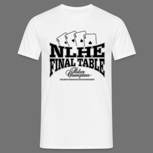 NLHE tableau final (noir) - T-shirt Homme