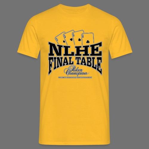 NLHE Final Table (black) - Men's T-Shirt