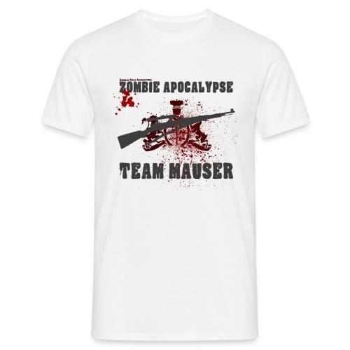 Zombie Apokalypse Team Mauser - Männer T-Shirt